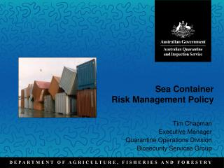 Sea Container  Risk Management Policy