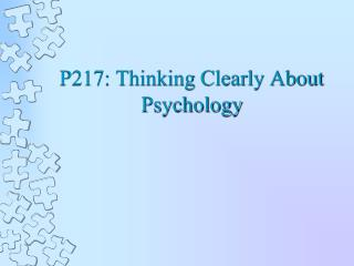 P217: Thinking Clearly About Psychology