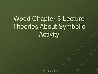 Wood Chapter 5 Lecture  Theories About Symbolic Activity