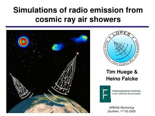 Simulations of radio emission from cosmic ray air showers