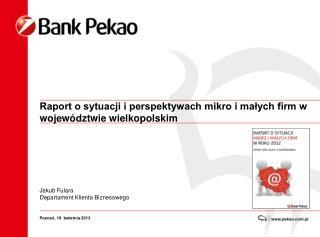 Raport o sytuacji i perspektywach mikro i małych firm w województwie wielkopolskim