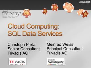 Cloud Computing:  SQL Data Services