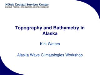 Topography and Bathymetry in Alaska