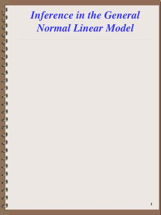 Inference in the General Normal Linear Model