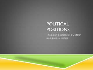 Political Positions
