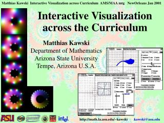 Interactive Visualization across the Curriculum