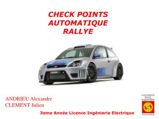 CHECK POINTS AUTOMATIQUE RALLYE