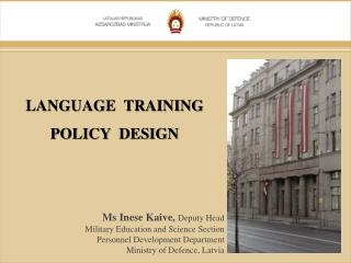 LANGUAGE  TRAINING POLICY  DESIGN