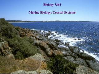 Biology 3361 Marine Biology: Coastal Systems