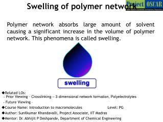 Swelling of polymer  network