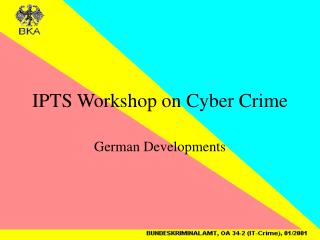 IPTS Workshop on Cyber Crime
