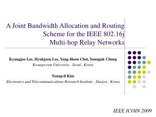 A Joint Bandwidth Allocation and Routing Scheme for the IEEE 802.16j  Multi-hop Relay Networks