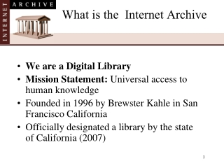 What is the Internet Archive