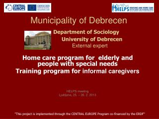 Home  care  program for   elderly  and people with special needs