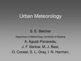 Urban Meteorology
