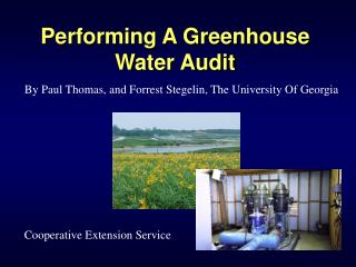 Performing A Greenhouse Water Audit