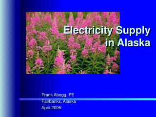 Electricity Supply     in Alaska