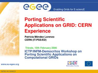 Porting Scientific Applications on GRID: CERN Experience