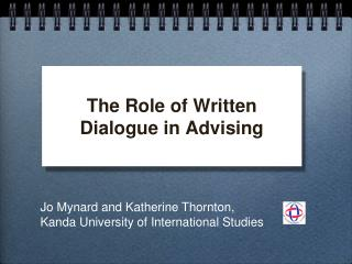 The Role of Written Dialogue in Advising