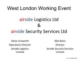 West London Working Event