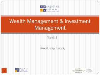 Wealth Management & Investment Management