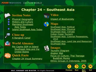 Chapter 24 – Southeast Asia