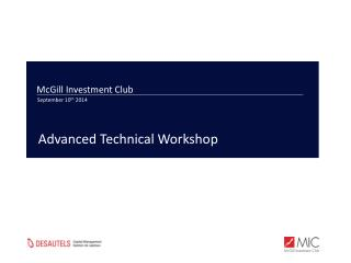 McGill Investment Club September 10 th  2014
