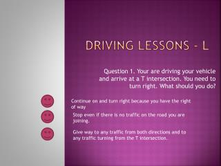 Driving Lessons - L