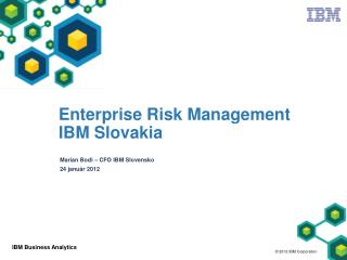Enterprise Risk Management IBM Slovakia