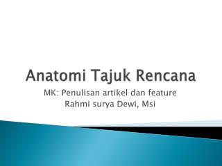 Anatomi Tajuk Rencana