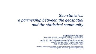 Geo-statistics: a partnership between the geospatial and the statistical community