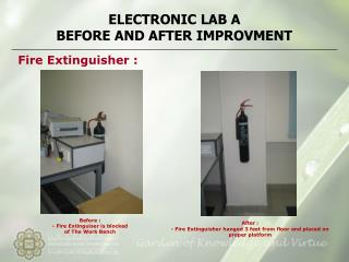 ELECTRONIC LAB A BEFORE AND AFTER IMPROVMENT