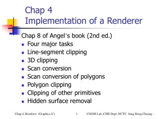 Chap 4  Implementation of a Renderer