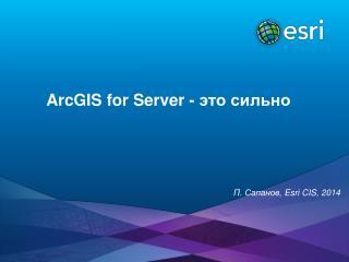 ArcGIS for Server  - это сильно
