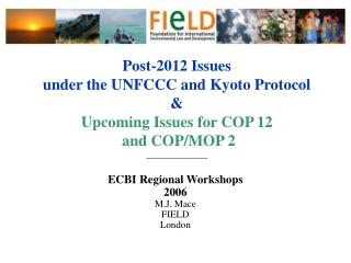 Adaptation Proposals   UNEP - GEF Perspective