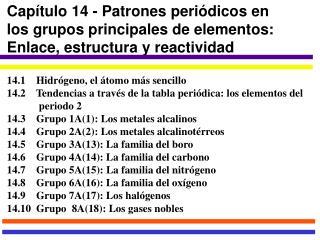 Ppt captulo 14 patrones peridicos en los grupos principales de download section urtaz Choice Image
