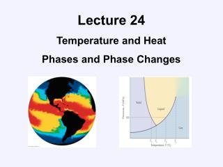 Lecture 24 Temperature and Heat Phases and Phase Changes