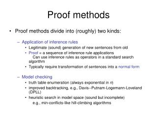 Proof methods