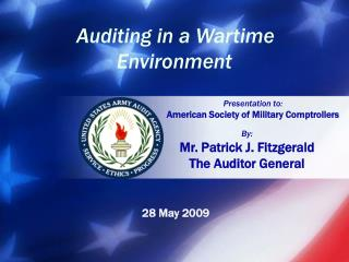 By: Mr. Patrick J. Fitzgerald The Auditor General