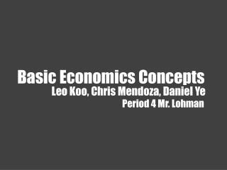 Basic Economics Concepts