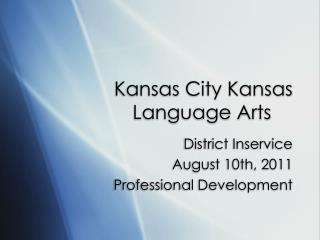 Kansas City Kansas Language Arts