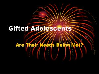 Gifted Adolescents