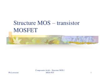 Structure MOS – transistor MOSFET
