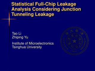 Statistical Full-Chip Leakage Analysis Considering Junction Tunneling Leakage