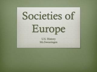 Societies of Europe