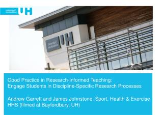 Engage students in discipline-specific research processes