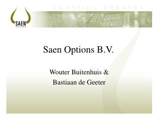 Saen Options B.V.