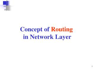 Concept of  Routing in Network Layer
