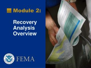 Module 2: Recovery Analysis Overview