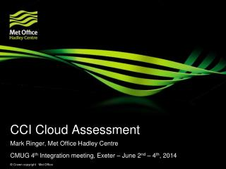 CCI Cloud Assessment